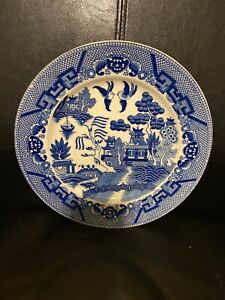 """🔵Vintage Blue Willow Dinner Plates 10"""" Beautiful Condition -Japan Set of 6"""