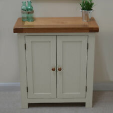 Painted Oak 2 Door Linen Cupboard / Storage Unit / Hallway New Croft