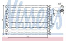 NISSENS Evaporador aire acondicionado 92059