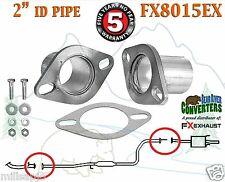 "FX8015EX 2"" ID Universal QuickFix Exhaust Oval Flange Repair Pipe Kit Gasket"