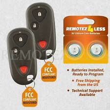 2 For 2001 2002 2003 2004 2005 2006 Acura MDX Keyless Entry Remote Car Key Fob