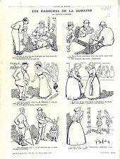 Caricature Soldats Poilus Banque de France Dent en Or Uniforme France 1915 WWI