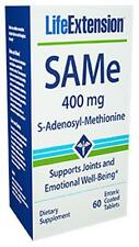 Life Extension SAMe 400 mg, 60 enteric coated tablets mood liver joint health