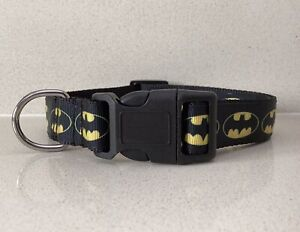 BATMAN DOG COLLAR - Medium - Large Size, new