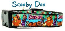 "Scooby Doo dog collar handmade adjustable buckle collar 1"" or 5/8""wide or leash"