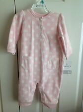 Infant Girls 6 Months Winter Long Polka Dot One Piece NWT