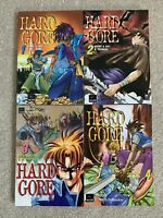 Manga Graphic Novel HARD GORE  2000 Yacom / DreamArts  VOL 1-4 English