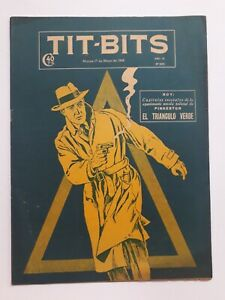 THE GREEN TRIANGLE! - TIT-BITS #2082 (1949) - ORIG. COMIC IN SPANISH - ARGENTINA