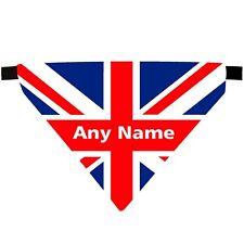 PERSONALISED UNION JACK FLAG PRINT SOFT FEEL DOG PET NECK SCARF BANDANA