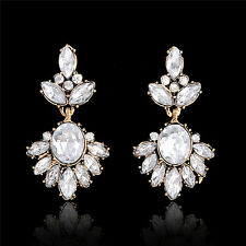 Women Clear Rhinestone Drop Kundan Earrings Fashion Jewelry High Quality