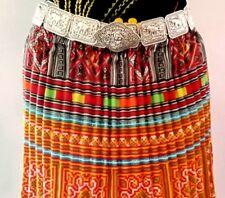 Big Thai silver plated belts chain women dress vintage elephants wedding costume