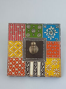 Wooden Hand crafted Multi Coloured Hand Painted Wall Hooks - Single Hooks