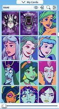 9 Random Rare/uncommon Disney topps Digital trading cards