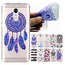 Clear TPU Rubber Printed Pattern Case Back Cover Skin For Various Mobile Phones