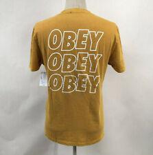 OBEY Men's Pigment T-shirt Jumble Lo-fi Dusty Rose Size M Shepard Fairey
