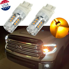 3157 16-SMD LED Amber Front Turn Signal Lights Bulbs For 2005-2015 Toyota Tundra