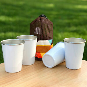4pcs Tea Milk Kid Adult Outdoor Camping Party Eco Friendly Stainless Steel Cup