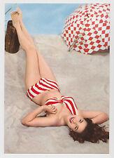 Postcard Pinup Risque Sexy Bikini Beach Girl Bathing Suit Umbrella Vintage Card