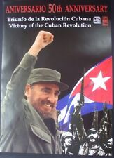 FIDEL CASTRO Original Cuba OSPAAAL Poster / 50th Anniversary of Cuban Revolution