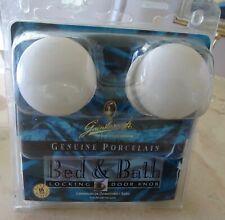 GAINSBOROUGH Genuine Porcelain Bed & Bath Locking Door Knob Bisque