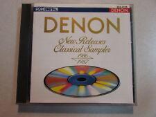 DENON NEW RELEASES CLASSICAL SAMPLER 1986 1987 GES-9105 JAPAN PRESSED CD HTF OOP