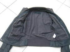 Ladies NEXT grey slate real leather JACKET COAT size UK 8 biker bomber
