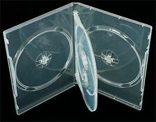 Vision Media - 4 Manera Claro DVD/CD/Blu Ray Case - (10) PC - 14mm de la columna vertebral