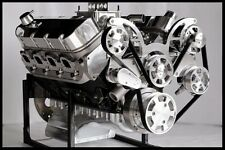 BBC CHEVY 540-555 ENGINE, STAGE 7.0 DART BLOCK, CRATE MOTOR 728 hp SERPENTINE