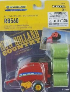 1/64 Ertl New Holland RB560 Round Baler with 6 bales New