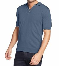Club Room Men's Size Large Denim Blue Short Sleeve Polo Top NEW $39