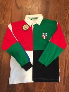 NWT Kids' Lansdowne 6 Six Nations Cup Long Sleeve Rugby Jersey 9-10