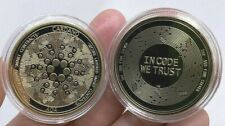 24k Gold Plated Cardano ADA Crypto currency. 1.2 oz. Collectible Novelty Coin