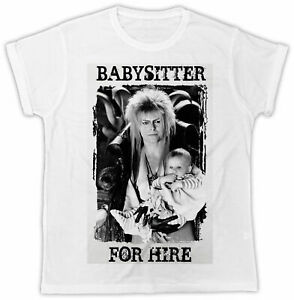 DAVID BOWIE T-SHIRT LABYRINTH BABYSITTER FOR HIRE MOVIE UNISEX COOL FUNNY TEE