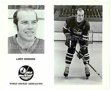 "HTF 1970's Larry Hornung Winnipeg Jets WHA Orig. Player Press Photo 8"" x 10"""