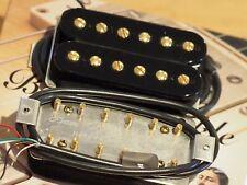 Bare Knuckle Pickups Aftermath Pickup Set. Black Open Coils. Gold Screws.