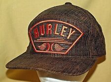 HURLEY HAT BROWN ORANGE PATCH SUMMER 2011 FLEXFIT YUPOONG COTTON BASEBALL CAP