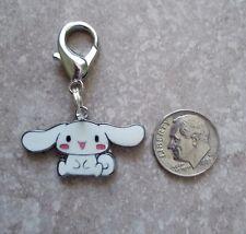 New Hello Kitty Enamel Charm Cinnamoroll Puppy Zipper Pull Backpack Clip White