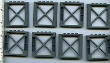 LEGO x 8 Dark Bluish Gray Support 1 x 6 x 5 Girder Rectangular NEW 64448