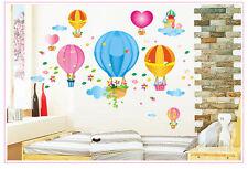 Wandtattoo wandaufkleber wandsticker kinderzimme Heißluftballon ball Wolke  h005