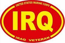 3 X 4.5 UNITED STATES MARINE CORPS USMC IRQ IRAQ  VET OVAL EURO STICKER