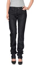 GF FERRE Straight Jeans Laminated Black 26 NWT $203