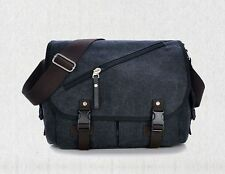 Black Canvas Shoulder Messenger Bag for iPad Pro 2 9.7 / Galaxy Tab S3 9.7