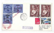 Hh82 France 1971 Le Havre Cover Italy Genova Post Strike {samwells-covers}Pts