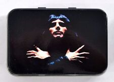 FREDDIE MERCURY ICONIC PHOTOGRAPH POP ROCK FREDDY SMALL HINGED TIN MINTS PILL