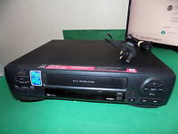 JVC VCR VHS VIDEO CASSETTE RECORDER Vintage HR-J245 Black Smart FAULTY