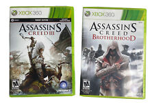 New listing 3 Game Lot - Assassins Creed 3 & Assassins Creed Brotherhood for Xbox 360 (Read)