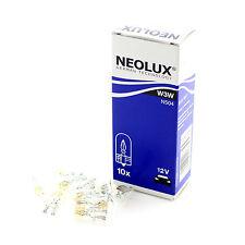 10x Genuine Neolux 501 (W3W T10 TW2.1x9.5d) Wedge 12v 3w Clear Bulbs [N504]