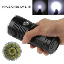 38000LM 14 x XM-L T6 LED Torch SKYRAY Flashlight 4 x 18650 Hunting Lamp