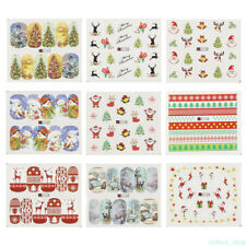 Lot 48 Sheets Christmas Water Transfer Manicure Nail Art Stickers Decals DIY WH0