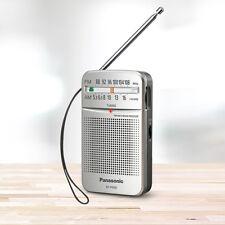 ***NEW*** PANASONIC RF-P50D Compact Pocket AM FM Radio - Silver